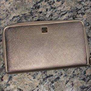 Nanette Lenore shimmery gold wallet wristlet